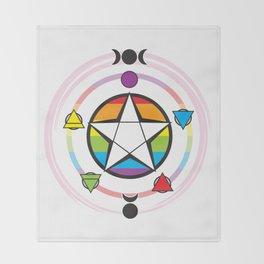 LGBT Elemental Pentagram Throw Blanket