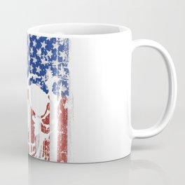 Grunge Skull On American Flag Coffee Mug