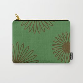 Olive and Dark Brown Carry-All Pouch