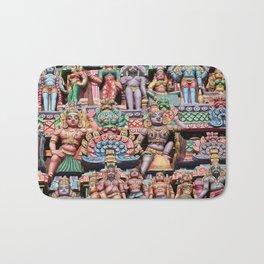 India Hinduism multicolored Temple Design Bath Mat