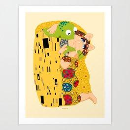 Klimt muppets Art Print