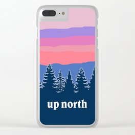 up north, pink hues Clear iPhone Case