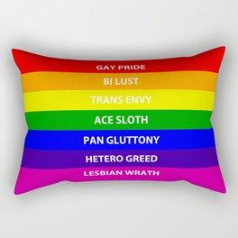 7 Deadly Queers Rectangular Pillow