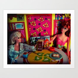 Breakfast with Ana and Mia, 1969 Art Print