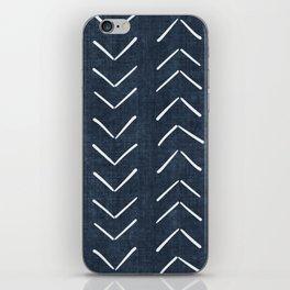 Mud Cloth Big Arrows in Navy iPhone Skin