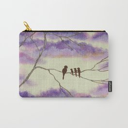 A Mothers Blessings, Birds in Tree Carry-All Pouch