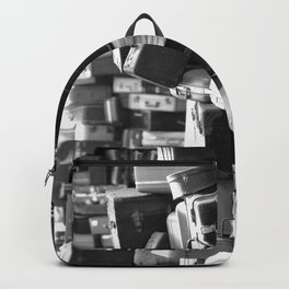 TOWER OF LUGGAGE in Black & White Backpack
