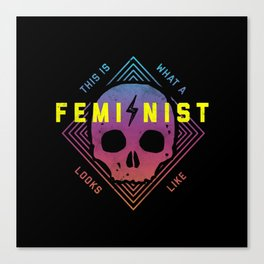 This is a Feminist Canvas Print