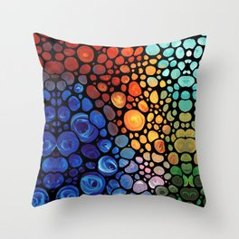 Abstract 1 - Beautiful Colorful Mosaic Art by Sharon Cummings Throw Pillow