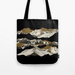 Golden Zugspitze / Black Tote Bag