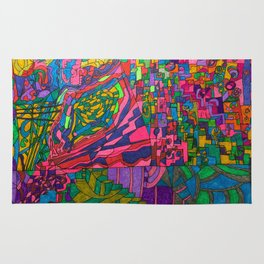 Many Exciting Shapes and Colors All in One Rug