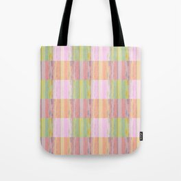 Stripes & Squares Tote Bag