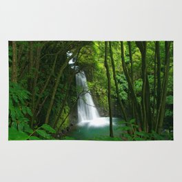 Waterfall in the Azores Rug