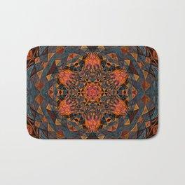 Tangerine Mandala Bath Mat