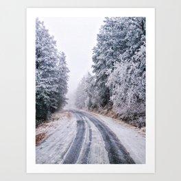 Frosty Backroads Art Print