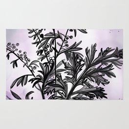 Wormwood Botanical Illustration Rug