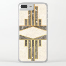Luxurious gold and marble Clear iPhone Case