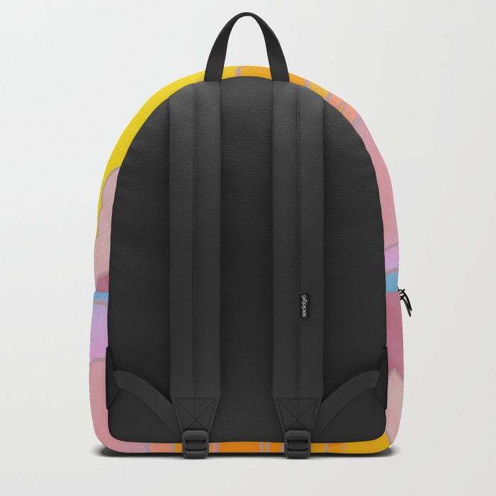 Sixties Inspired Psychedelic Sunrise Surprise Backpack