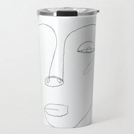 The Woman - Contour Drawing Travel Mug