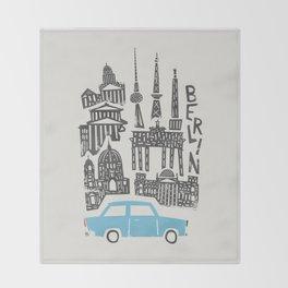 Berlin Cityscape Throw Blanket