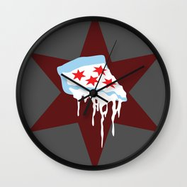 Chicago Deep Dish Pizza Wall Clock