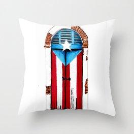 Puerta Bandera Throw Pillow
