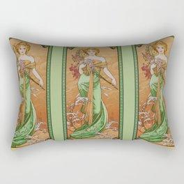 "Alphonse Mucha ""The Seasons (series): Spring"" (1900) Rectangular Pillow"