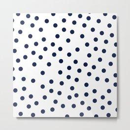 Simply Dots in Nautical Navy Metal Print