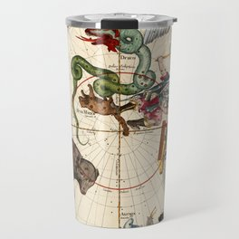 Ursa Major, Ursa Minor, Perseus, Hercules, Cassiopea, Andromeda And Other Constellations Travel Mug