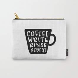 Coffee Write Rinse Repeat Carry-All Pouch
