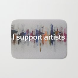 I Support Artists Mug and Notebook Bath Mat