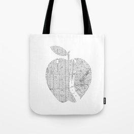 New York City big apple Poster black and white I Heart I Love NYC home decor bedroom wall art Tote Bag