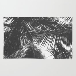 Tropical Black and White Rug