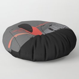 apocalypse city Floor Pillow