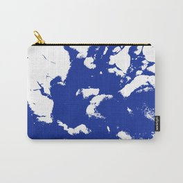 Marble blue 2 Suminagashi watercolor pattern art pisces water wave ocean minimal design Carry-All Pouch