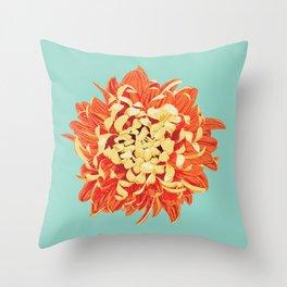 Chrysanthemum (Part of a Triptych) Throw Pillow