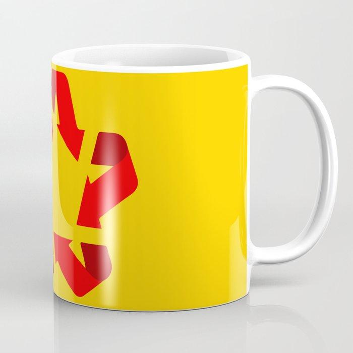 Recycle red star Symbol of new communism Coffee Mug
