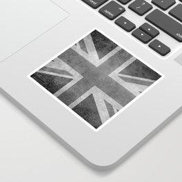 British Union Jack flag 1:2 scale retro grunge Sticker