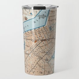 Vintage Map of Boston MA (1906) Travel Mug