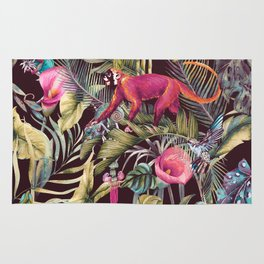 Fantasy in the nocturnal tropical jungle Rug