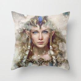 Epic Princess Zelda from Legend of Zelda Painting Throw Pillow
