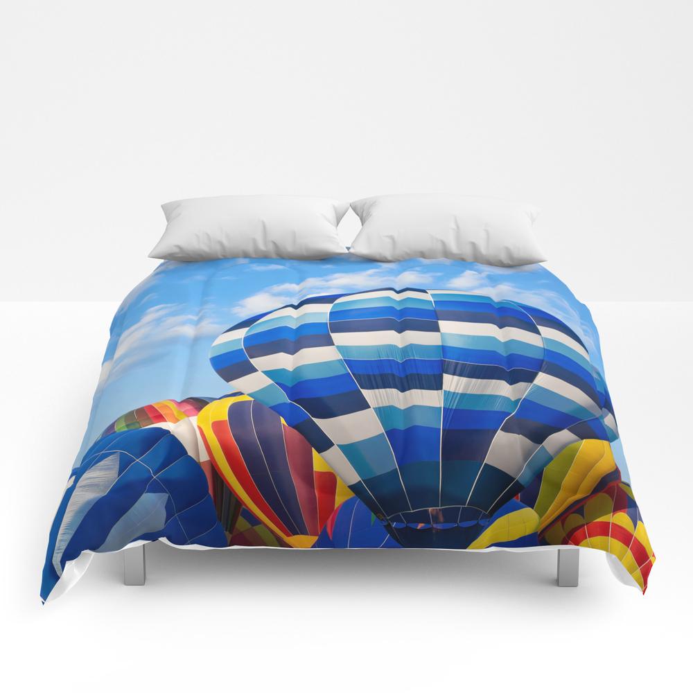 Vibrant Hot Air Balloons Comforter by Somadjinn CMF4090181
