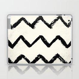 ZigZag Stripes on Ivory Laptop & iPad Skin