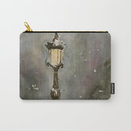 Lamp Post in Blue Carry-All Pouch