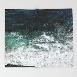Pacific Ocean Colors Throw Blanket
