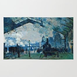 Claude Monet - Arrival Of The Normandy Train, Gare Saint Lazare Rug