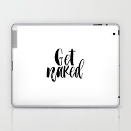 Bathroom Printable art,Get naked sign PRINTABLE art bathroom wall decor,bathroom rules,typography, f Laptop & iPad Skin