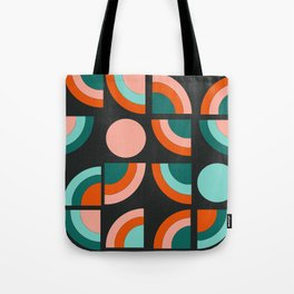 Spiffy - 70's retro throwback minimal geometric trendy colors art 1970s Tote Bag