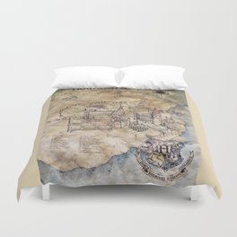Hogwarts Map Duvet Cover