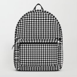 Black and White Houndstooth Pattern Backpack